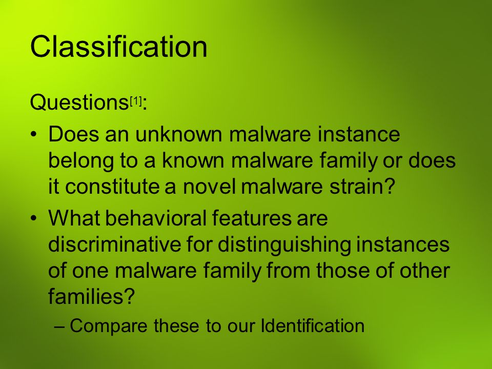 Classification Questions[1]: